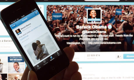 Barack Obama's tweet on November 7, 2012 in Paris after his re-election as US president