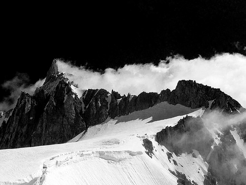 The Giant's Tooth, Mont Blanc (Italian side)